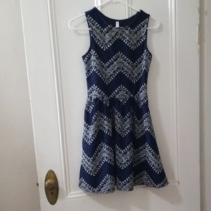 Xhilaration blue lace dress w/ back cutout